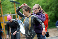 20180501 - DOORNIK , BELGIUM : Triathlete KTT pictured during The Belgian Championship Team Triathlon Man and Women , a Team Triathlon in Doornik , Tuesday 1 st May 2018 , PHOTO SPORTPIX.BE | STIJN AUDOOREN