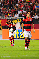 ATENCAO EDITOR: FOTO EMBARGADA PARA VEÍCULOS INTERNACIONAIS. - RIO DE JANEIRO, RJ, 26 DE SETEMBRO DE 2012 - CAMPEONATO BRASILEIRO - FLAMENGO X ATLETICO MG - Cleber Santana, jogador do Flamengo, durante partida contra o Atletico MG, pela 14a rodada do Campeonato Brasileiro, no Stadium Rio (Engenhao), na cidade do Rio de Janeiro, nesta quarta, 26. FOTO BRUNO TURANO BRAZIL PHOTO PRESS