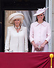 CAMILLA, DUCHESS OF CORNWALL  AND KATE<br /> appear on the balcony of Buckingham Palace to watch the Royal Air Force Flypast as part of the Trooping of the Colour, London_15th June 2013<br /> The annual event marks the Queen's Official Birthday.<br /> Photo Credit: &copy;Dias/NEWSPIX INTERNATIONAL<br /> <br /> **ALL FEES PAYABLE TO: &quot;NEWSPIX INTERNATIONAL&quot;**<br /> <br /> PHOTO CREDIT MANDATORY!!: NEWSPIX INTERNATIONAL<br /> <br /> IMMEDIATE CONFIRMATION OF USAGE REQUIRED:<br /> Newspix International, 31 Chinnery Hill, Bishop's Stortford, ENGLAND CM23 3PS<br /> Tel:+441279 324672  ; Fax: +441279656877<br /> Mobile:  0777568 1153<br /> e-mail: info@newspixinternational.co.uk