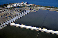Large salt mine at Salin-de-Giraud, Camargue, France.