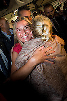 """Bologna 6 settembre 2014, Festa dell'Unità. Fedrica Mogherini, 41 anni, a novembre, futura lady Pesc: """"Un conflitto in Europa non è possibile"""" (La crisi Ucraina è nel pieno ndr)."""