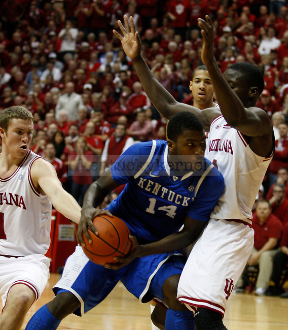 Michael Kidd-Gilchrist with possession of the ball in the second half of UK's loss to Indiana University on Saturday, Dec. 10, 2011 in Assembly Hall. Kentucky lost 73-72. Photo by Latara Appleby | Staff ..