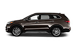 Car Driver side profile view of a 2017 Hyundai Santa-Fe Limited-Ultimate-FWD 5 Door SUV Side View