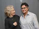 Hayley Mills and Amanda Bearse attends the Off-Broadway Meet & Greet Photocall for the cast of 'Party Face' at Theatre Row Studios on November 18, 2017 in New York City.