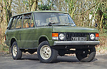 Very early 1970 Range Rover, chassis No. 35500015A, Registration YVB 162H, Engine 3.5 ltr V8 petrol. Belonging to the Dunsfold Collection of Landrovers, Surrey, UK. RELEASES MAY BE AVAILABLE FOR CERTAIN USES, PLEASE ENQUIRE. Automotive trademarks are the property of the trademark holder, authorization may be needed for some uses. --- Info: YVB 162H (chassis no. 35500015A) is one of the 28 Range Rover pre-production prototypes bulit in 1970 prior to its launch in June 1970. Development of the Range Rovers started in November 1968. Most of the pre-production vehicles carried the name VELAR for running on the road in disguise, there were no Land / Range Rover badges. Very little changed from prototypes to production; smooth dash to grained, aluminium bonnet to steel, wheels went from cream to silver. Most of the prototypes carried a 'YVB' registration and had an H suffix. An additional batch of 20 press fleet vehicles was built carrying registration marks NXC 231H to NXC 250H. Around 38 of these pre-production vehicles still survive. This vehicle, YVB 162H was purchased by Dunsfold in the early 90s after suffering a bad engine fire, and was fully rebuilt keeping as many original parts as possible, but sadly the aluminium bonnet was beyond repair. YVB 162H is a working vehicle, used in many photo shoots and is driven often.
