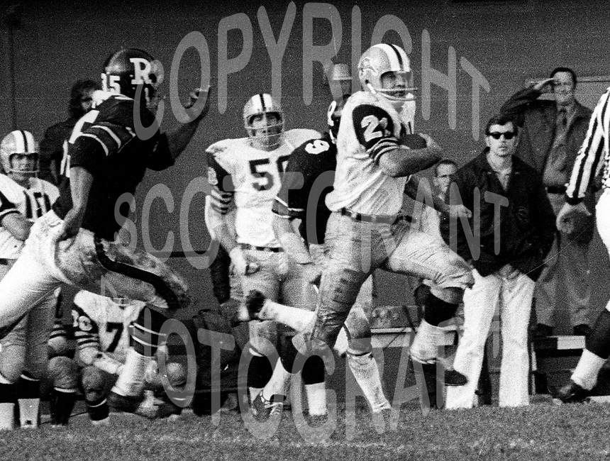 Dave Fleming Hamilton Tiger Cats 1972. Photo Ted Grant
