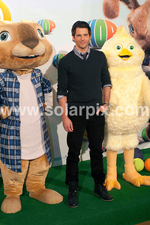 "**ALL ROUND PICTURES FROM SOLARPIX.COM**                                             **WORLDWIDE SYNDICATION RIGHTS EXCEPT SPAIN - NO SYNDICATION IN SPAIN**                                                                                  Caption:  The american actor James Mardsen  present his new film ""hop"" in Madrid with the cartoon movie muppets.                                                                             This pic:                                                                                              JOB REF: 13023       DMS/Drake       DATE: 24.03.2011                                                           **MUST CREDIT SOLARPIX.COM OR DOUBLE FEE WILL BE CHARGED**                                                                      **MUST AGREE FEE BEFORE ONLINE USAGE**                               **CALL US ON: +34 952 811 768 or LOW RATE FROM UK 0844 617 7637**"