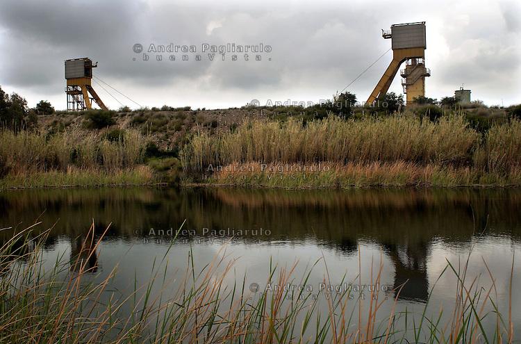 Italia, Sulcis, Nuraxi Figus..Miniera di Monte Sinni..© Andrea Pagliarulo/Buenavista.######.Italy, Sulcis, Nuraxi Figus..Monte Sinni coal mine. .© Andrea Pagliarulo/Buenavista.