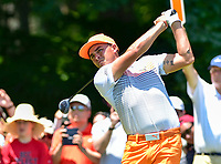 Bethesda, MD - July 1, 2018:  Rickie Fowler tee's off on the 8th hole during final round of professional play at the Quicken Loans National Tournament at TPC Potomac at Avenel Farm in Bethesda, MD.  (Photo by Phillip Peters/Media Images International)