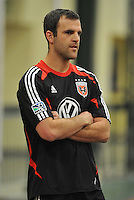 D.C. United defender Daniel Woolard during the pre-season fitness training session at George Manson University before departing for Bradenton Florida to get ready for the 2013 season, Friday January 18, 2013.