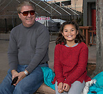 Greg and 9-year-old Sydney during the Sparks Hometowne Christmas Parade held on Saturday, December 2, 2017.