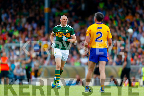 Kieran Donaghy Kerry in action against  Clare during the Munster GAA Football Senior Championship semi-final match between Kerry and Clare at Fitzgerald Stadium in Killarney on Sunday.