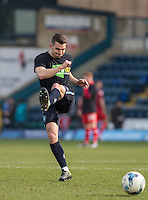 Matt Bloomfield of Wycombe Wanderers warms up during the Sky Bet League 2 match between Wycombe Wanderers and Stevenage at Adams Park, High Wycombe, England on 12 March 2016. Photo by Andy Rowland/PRiME Media Images.