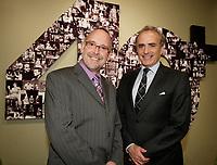 Montreal (Qc) CANADA Sept  30 2010 - Centaur Theater fundraiser Gala : Roy Surette ( L), Calin Rovinescu. CEO, Air Canada.