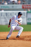 New York Yankees first baseman Chris Parmelee (24) running the bases during a Spring Training game against the Detroit Tigers on March 2, 2016 at George M. Steinbrenner Field in Tampa, Florida.  New York defeated Detroit 10-9.  (Mike Janes/Four Seam Images)
