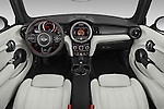 Stock photo of straight dashboard view of 2016 MINI Cooper - 2 Door Convertible Dashboard