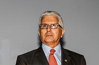 ATENCAO EDITOR IMAGEM EMBARGADA PARA VEICULOS INTERNACIONAIS - SAO PAULO, SP, 14 DE JANEIRO 2013 - ABERTURA COUROMODA 40 ANOS - O diretor da Couromoda Francisco Silva durante cerimonia de abertura da Couromoda 2013, o mais importante encontro de moda e negócios entre a indústria e o varejo de calçados e acessórios, no Complexo do Anhembi na regiao norte da capital paulista, nesta segunda-feira, 14. FOTO: VANESSA CARVALHO / BRAZIL PHOTO PRESS).