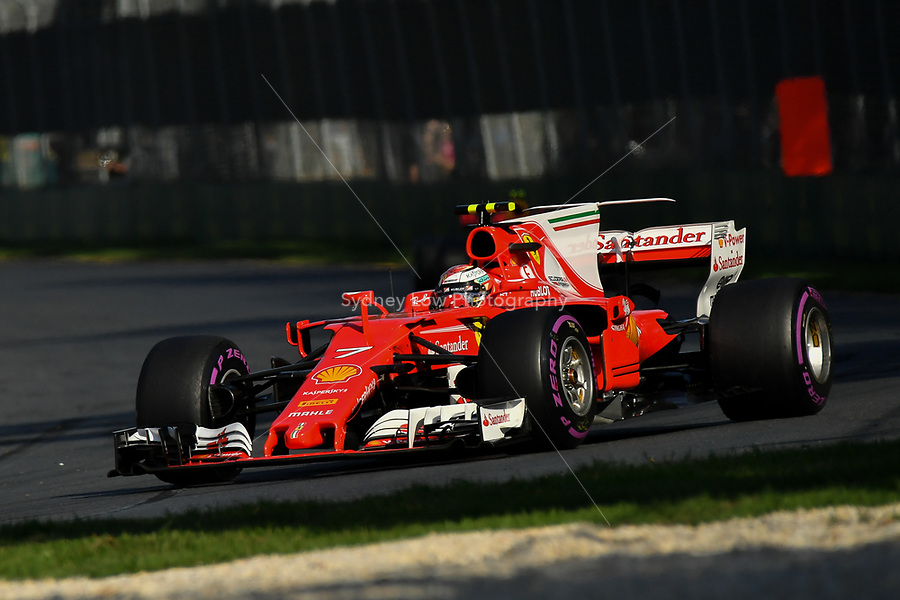 March 26, 2017: Kimi Raikkonen (FIN) #7 from the Scuderia Ferrari team at the 2017 Australian Formula One Grand Prix at Albert Park, Melbourne, Australia. Photo Sydney Low