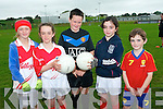 Demonstrating their GAA skills at the Causway Cúl Camp last week. .L-R Tara Kirby, Rebecca Falvey, Vincent Pierce, Caitlin Guerin and Thomas O'Connor.