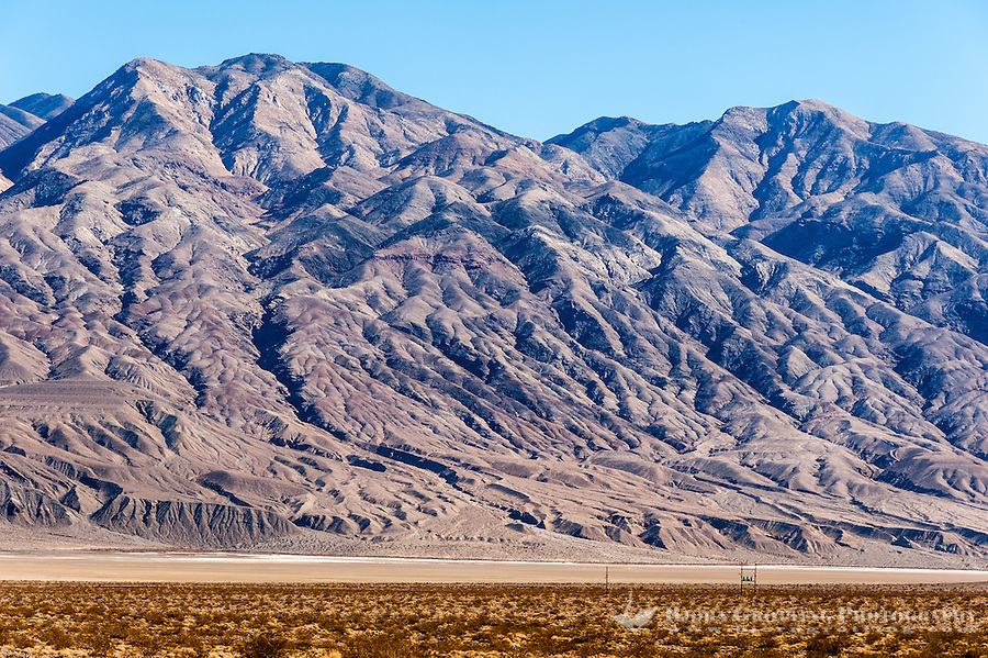 United States, California, Lone Pine. Along the road to Panamint City, a ghost town in the Panamint Range, near Death Valley.