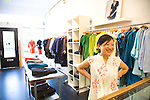 San Francisco fashion designer Sunhee Moon in her namesake store in the Mission District.