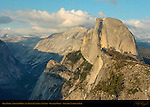 Half Dome, Ahwiyah Point and Clouds Rest at Sunset, Glacier Point, Yosemite National Park