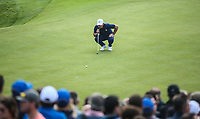 Paul Casey (Team Europe) putting on the 9th during Friday's Fourballs, at the Ryder Cup, Le Golf National, Îls-de-France, France. 28/09/2018.<br /> Picture David Lloyd / Golffile.ie<br /> <br /> All photo usage must carry mandatory copyright credit (© Golffile | David Lloyd)