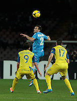 Anthony Reveillere  in action during the Italian Serie A soccer match between SSC Napoli and Chievo  at San Paolo stadium in Naples, January 25, 2014