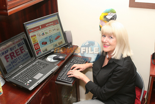 Maureen Peakin who set up a website gobarterireland.ie...Photo NEWSFILE/Jenny Matthews.(Photo credit should read Jenny Matthews/NEWSFILE)....This Picture has been sent you under the condtions enclosed by:.Newsfile Ltd..The Studio,.Millmount Abbey,.Drogheda,.Co Meath..Ireland..Tel: +353(0)41-9871240.Fax: +353(0)41-9871260.GSM: +353(0)86-2500958.email: pictures@newsfile.ie.www.newsfile.ie.FTP: 193.120.102.198.