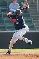 Michael Almanzar (23) of the Greenville Drive at bat at Fieldcrest Cannon Stadium in Kannapolis, NC, Sunday August 10, 2008. (Photo by Brian Westerholt / Four Seam Images)