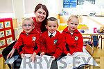 Lily Mai Cashman,Jamie O'Brien and Michaela Lynch Junior Infants Junior Infants who started at St Josephs NS Bouleenshers,Ballyheigue on Friday with their teacher McEmer McCarthy.Lily Mai Cashman,Jamie O'Brien and Michaela Lynch