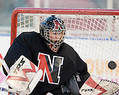 Sydney Arbelbide (NU - 31) - The Northeastern University Huskies practice on the ice at Fenway Park on Thursday, January 7, 2010, in Boston, Massachusetts.