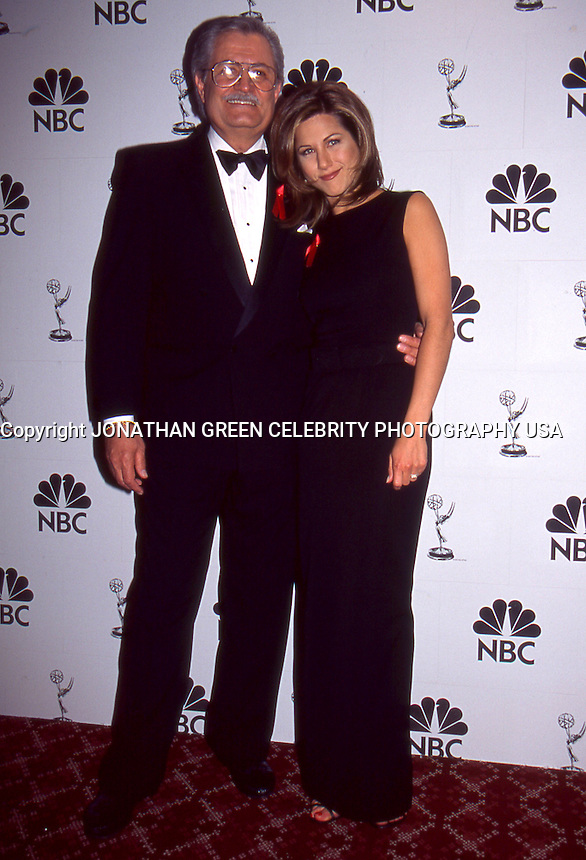 Jennifer Aniston &amp; Dad John Aniston 1995 <br />
