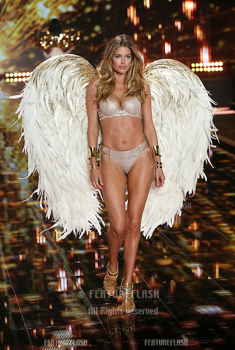 Doutzen Kroes on the runway at the Victoria's Secret Fashion Show 2014 London held at Earl's Court, London. 02/12/2014 Picture by: James Smith / Featureflash