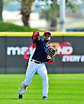 8 March 2010: Washington Nationals' outfielder Willie Harris in action during a Spring Training game against the Florida Marlins at Space Coast Stadium in Viera, Florida. The Marlins defeated the Nationals 12-2 in Grapefruit League action. Mandatory Credit: Ed Wolfstein Photo