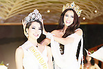 Miss Grand Japan 2015 winner Ayaka Tanaka is crowned by Miss Grand International 2014 winner Lees Daryanne Garcia during the Miss Grand Japan 2015 contest in Tokyo on August 24, 2015. The 25-year-old nurse from Saitama will represent Japan in the Miss Grand International 2015 contest to be held in Thailand later this year. (Photo by AFLO)