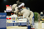 Jerome Guery of Belgium riding on Alicante competes during the EEM Trophy, part of the Longines Masters of Hong Kong on 10 February 2017 at the Asia World Expo in Hong Kong, China. Photo by Marcio Rodrigo Machado / Power Sport Images
