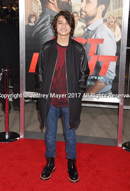 HOLLYWOOD, CA - FEBRUARY 13: Actor Rio Mangini attends the premiere of Warner Bros. Pictures' 'Fist Fight' at the Regency Village Theatre on February 13, 2017 in Westwood, California.