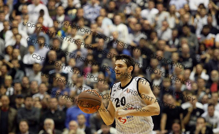 Kosarka, Euroleague, sezona 2011/2012.Partizan Vs. Maccabi Electra (Tel Aviv).Petar Bozic.Belgrade, 01.11.2011..foto: Srdjan Stevanovic/Starsportphoto ©
