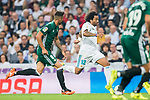 Marcelo Vieira Da Silva of Real Madrid (C) in action during the La Liga 2017-18 match between Real Madrid and Real Betis at Estadio Santiago Bernabeu on 20 September 2017 in Madrid, Spain. Photo by Diego Gonzalez / Power Sport Images