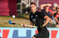 Dylan Thomas. Pro League Hockey, Vantage Blacksticks v Belgium. Harbour Hockey Stadium, Auckland, New Zealand. Friday 1st February 2019. Photo: Simon Watts/Hockey NZ