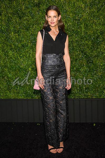 18 April 2016 - New York, New York- Katie Holmes. Chanel Artists Dinner at Tribeca Film Festival. Photo Credit: Mario Santoro/AdMedia