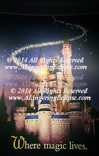 Disney World Poster: Cinderella's Magic Kingdom Castle in the EarPort Disney Store at Orlando International Airport