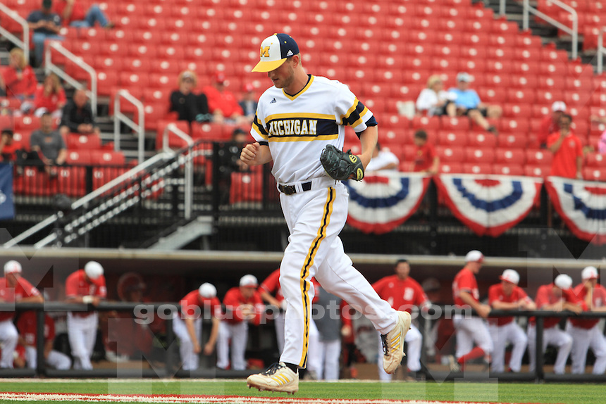 The University of Michigan Baseball team defeated Bradley 4-3 to move out of the the losers bracket and into another game vs. Louisville in their 4th game of the 2015 Louisville NCAA Regional Championship.