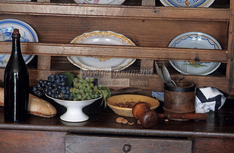 Europe/France/Aquitaine/40/Landes/Montfort-en-Chalosse: Musée d'arts et traditions populaires - Détail de la cuisine de la ferme