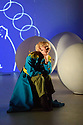 "Ipswich, UK. 11.12.2018. Luca Silvestrini's Protein presents ""The Little Prince"", a new show about love and friendship for children and adults alike, based on the book by Antoine de Saint-Exupéry, at Dance East.  The show is touring in Eastleigh, Ipswich and Falmouth, from the 1st to the 22nd December 2018. Conceived and directed by Luca Silvestrini, the production is devised and performed by Andrew Gardiner (Fox, Geographer, Lamplighter), Donna Lennard (King, Roses, Counting Man), Faith Prendergast (Little Prince), Karl Fagerlund  Brekke (Pilot). Lighting design is by Jackie Shemesh, set and costume design by Yann Seabra, animation by Daniel Denton and the music composed by Frank Moon. Photograph © Jane Hobson."