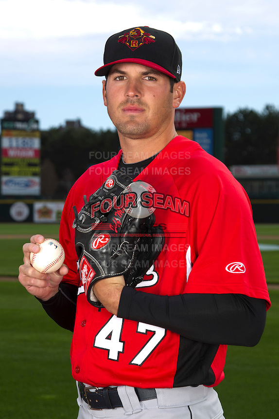 Rochester Red Wings pitcher Jeff Manship #47 poses for a photo during media day at Frontier Field on April 3, 2012 in Rochester, New York.  (Mike Janes/Four Seam Images)