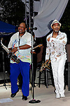 June 27, 2009:  Gerald Albright and Kirk Whalum at the 'Rhythm on the Vine' charity event to benefit Shriners Children Hospital held at  the South Coast Winery Resort & Spa in Temecula, California..Photo by Nina Prommer/Milestone Photo