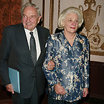 David Rockefeller and Happy Rockefeller Attendsthe United Nations Association of USA Global Leadership Dinner honoring Oprah Winfrey with the Global Humanitarian Action Award at the Waldorf Astoria Hotel in New York City.<br />