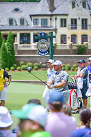 Lee Westwood (GBR)  watches his tee shot on 8 during Saturday's round 3 of the PGA Championship at the Quail Hollow Club in Charlotte, North Carolina. 8/12/2017.<br /> Picture: Golffile | Ken Murray<br /> <br /> <br /> All photo usage must carry mandatory copyright credit (&copy; Golffile | Ken Murray)